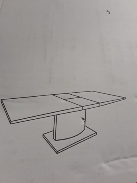 Lot 78 BOXED CLINTOX WHITE DINING TABLE (MISSING 2 PARTS OF SET, INCOMPLETE)