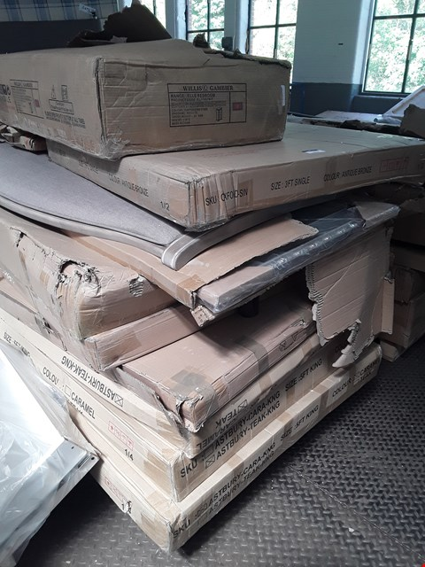 Lot 7093 PALLET OF ASSORTED BOXED BED FRAME PARTS