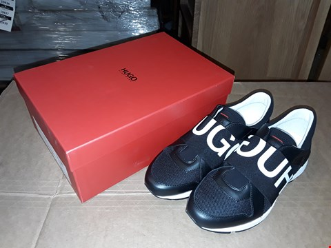 Lot 25 BOXED HUGO BOSS LOGO TRAINER BLACK SIZE 5UK/38EUR