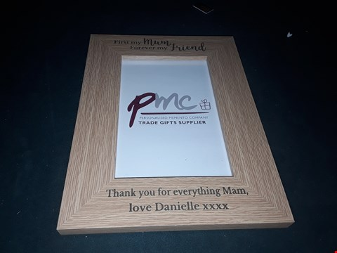 Lot 79 PERSONALISED FIRST MY MOTHER FOREVER MY FRIEND FRIEND PICTURE FRAME  RRP £20.00