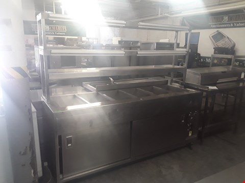 Lot 61 CHEFS HOT CUPBOARD AND GANTRY