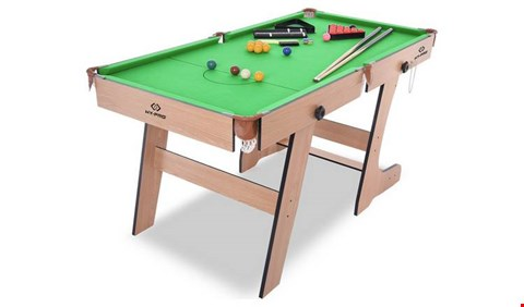 Lot 9031 BOXED HY-PRO 6FT FOLDING SNOOKER AND POOL TABLE (1 BOX)