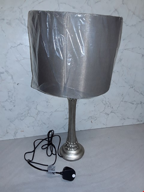 Lot 4002 ANTIQUE LOOK TABLE LAMP WITH TAUPE SHADE