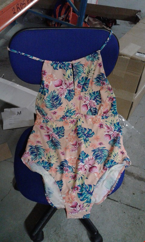 Lot 57 BOX OF APPROXIMATELY 15 FLOWERY PINK SWIMMING COSTUMES