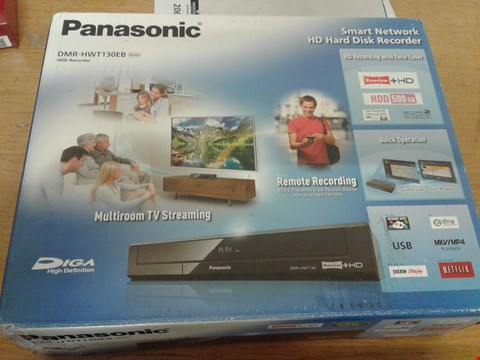 Lot 2059 BOXED PANASONIC DMR HWT130EB HDD RECORDER