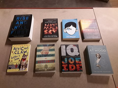 Lot 479 LOT OF APPROXIMATELY 8 ASSORTED FICTION BOOKS TO INCLUDE THE TATTOOIST OF AUSCHWITZ BY HEATHER MORRIS, BLOOD MERIDIAN BY CORMAC MCCARTHY, BURNT PAPER AKY BY GILLY MACMILLAN ETC