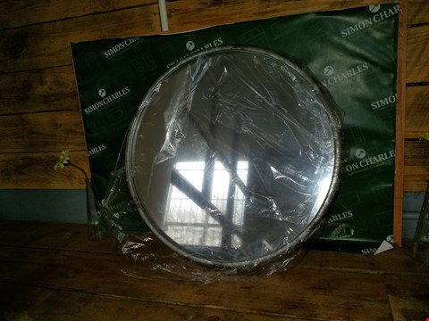 Lot 7059 METAL RIM CIRCULAR MIRROR