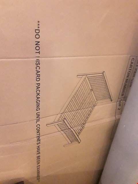 """Lot 2454 BOXED HAMPTON 4'6"""" BEDFRAME BOX 1 OF 2 ONLY"""