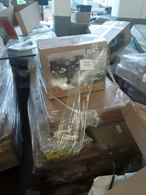 Lot 350 PALLET OF ASSORTED FLAT PACK FURNITURE/PARTS