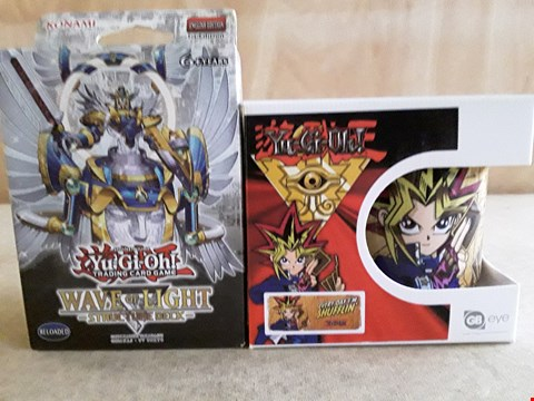 Lot 33 2 BRAND NEW BOXED ASSORTED YU-GI-OH! ITEMS TO INCLUDE TRADING CARD GAME, MUG