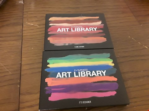 Lot 7100 LOT OF 2 M.A.C ART LIBRARY EYESHADOW PALETTES