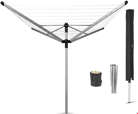 Lot 7045 BOXED GRADE 1 BRABANTIA LIFT-O-MATIC 50M ROTARY DRYER WITH COVER & GROUND SPIKE
