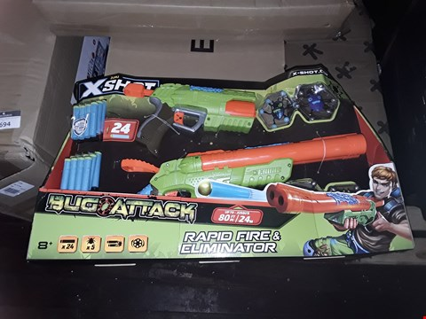 Lot 4734 X-SHOT BUG ATTACK COMBO RAPID & ELIMINATOR RRP £25.00