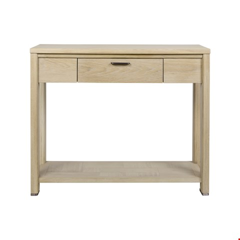 Lot 3016 CONTEMPORARY DESIGNER BOXED JENSON BLONDE OAK HALL TABLE RRP £438.00