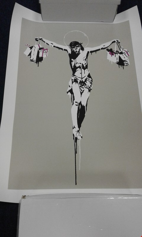Lot 8213 THE WEST COUNTRY PRINCE BANKSY COPY 'COSUMER JESUS' 46/500