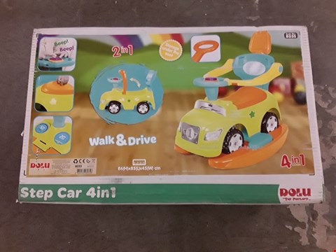 Lot 2065 DOLU STEP CAR 4-IN-1 ROCKER & RIDE ON  RRP £74.99