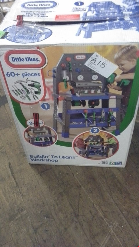 Lot 353 BOXED LITTLE TIKES BUILDIN' TO LEARN WORKSHOP  RRP £130.00