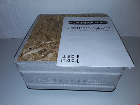 Lot 62 BOXED MONITOR AUDIO CCBOX-L IN CEILING CONCRETE BACK BOX