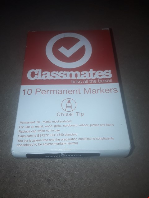 Lot 9014 PACK OF 10 BRAND NEW CLASSMATES PERMANENT MARKERS