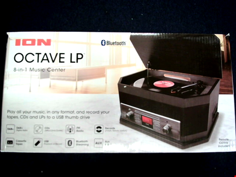Lot 15026 ION AUDIO OCTAVE LP - 8-IN-1 BLUETOOTH STREAMING TURNTABLE