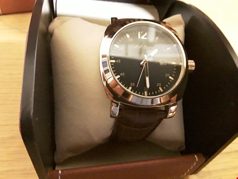 Lot 2 BOXED LA BANUS WRIST WATCH WITH BROWN STRAP AND BLACK FACE