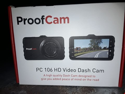 Lot 3050 PROOF CAM PC 106 HD VIDEO DASH CAM