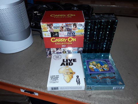 Lot 4093 JOB LOT OF ASSORTED DVD BOXSETS AND GAMES TO INCLUDE THE SIMPSONS, LIVE AID, THE MATRIX