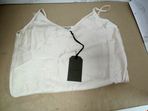 Lot 7095 ALLSAINTS BENNO TEE LAYERED CREAM SLIP DRESS - SIZE SMALL