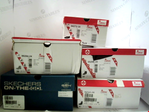 Lot 3057 LOT OF APPROXIMATELY 5 ASSORTED PAIRS OF FOOTWEAR TO INCLUDE; RIEKER ANTISTRESS AND SKECHERS ON THE GO