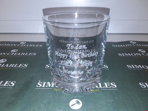 Lot 294 PERSONALISED WHISKY GLASS RRP £16.00