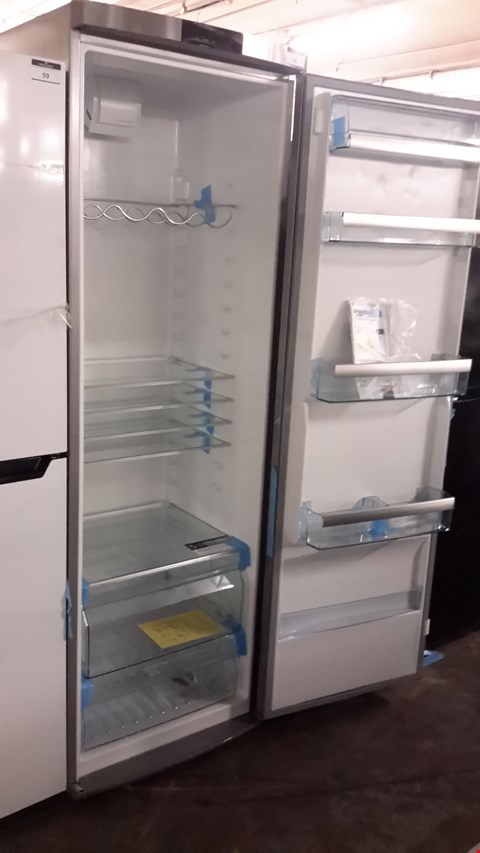 Lot 60 AEG TALL SILVER FRIDGE  RRP £600