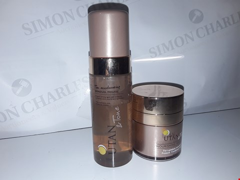 Lot 875 ×6 UTAN AND TONE NOURISHING NIGHT CREAM FOR A GRADUAL, EVEN FACIAL TAN PROTECTS. CONDITIONS. HYDRATES. 50ML/ COCONUT WATER TAN ACCELERATING GRADUAL MOUSSE ORGANIC TANNING AGENT 150ML