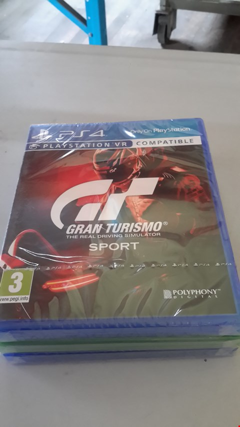 Lot 9016 GRAN TURISMO THE REAL DRIVING SIMULATOR SPORT FOR PLAYSTATION 4