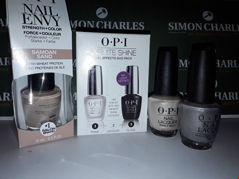 Lot 63 LOT OF 4 ASSORTED OPI NAIL PRODUCTS