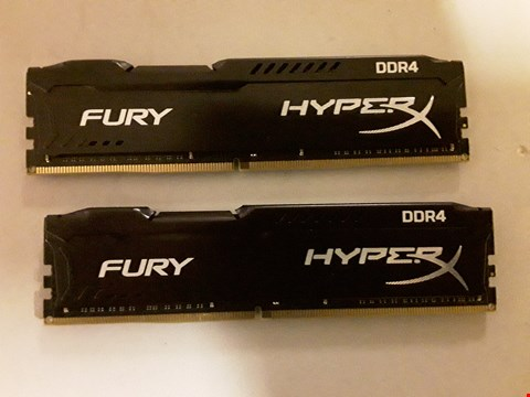 Lot 455 HYPERX HX424C15FBK2/32 FURY DDR4 RAM KIT 32 GB (2×16GB)
