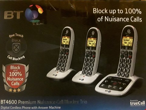 Lot 830 BOXED BT 4600 PREMIUM NUISANCE CALL BLOCKER TRIO RRP £109.99