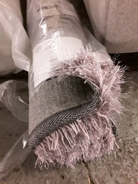 Lot 135 BAGGED AND ROLLED MAUVE DAZZLE RUG - 230X160CM