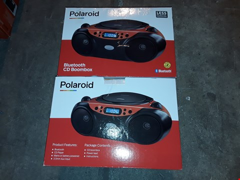 Lot 4563 LOT OF 2 POLAROID BLUETOOTH CD BOOMBOXES