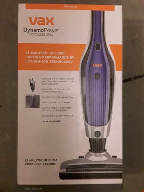 Lot 573 VAX H85-DP-B21 DYNAMO POWER 2-IN-1 21.6V CORDLESS VACUUM CLEANER