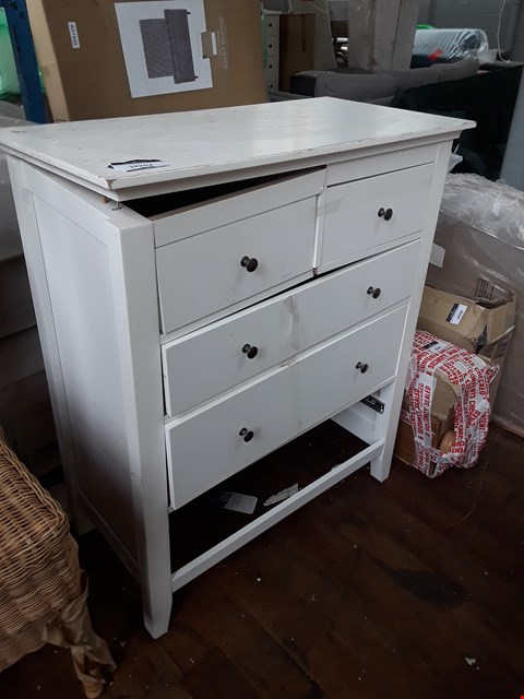 Lot 1016 DESIGNER WHITE 2+3 DRAWER CHEST