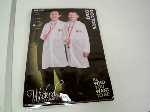 Lot 8085 WICKED COSTUMES DOCTOR'S COAT FANCY DRESS COSTUME - SIZE 8-10 YEARS