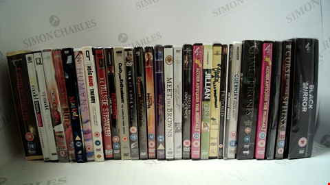 Lot 18092 LOT OF APPROXIMATELY 29 ASSORTED DVD'S TO INCLUDE GAME OF THRONES, MATILDA, BLACK MIRROR ETC