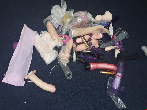 Lot 10149 QUANTITY OF ASSORTED UNBOXED/PACKAGED SEX TOYS