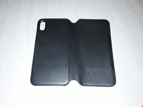 Lot 295 APPLE IPHONE X MAX LEATHER FOLIO CASE BLACK RRP £169.99