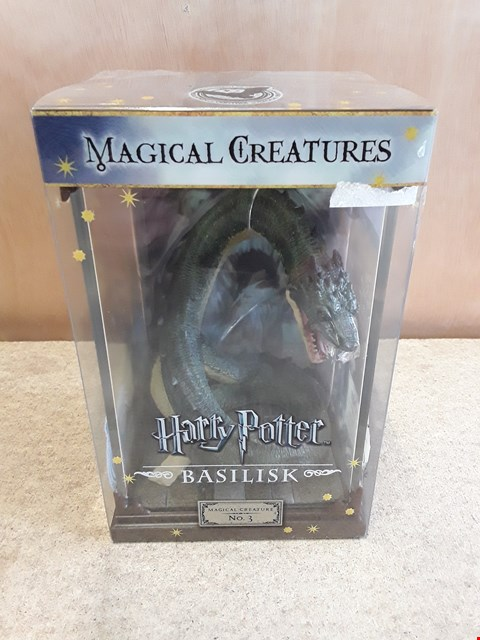 Lot 75 BRAND NEW BOX COLLECTABLE HARRY POTTER MAGICAL CREATURES: BASILISK FIGURINE