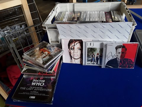 Lot 7686 BOX OF APPROXIMATELY 50 ASSORTED CD'S AND CASSETTES TO INCLUDE OLLY MURS, LITTLE MIX, JESS GLYNNE ETC
