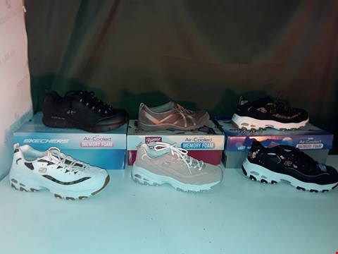 Lot 1060 LOT OF 6 ASSORTED PAIRS OF WOMENS SKETCHERS TRAINERS