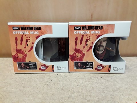 Lot 65 2 BRAND NEW WALKING DEAD OFFICIAL MUGS