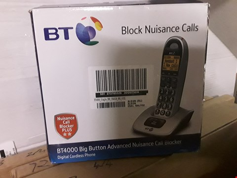 Lot 713 BT 4000 SINGLE BIG BUTTON CORDLESS TELEPHONE RRP £49.99