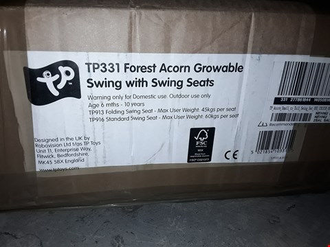 Lot 66 BOXED TP ACORN SMALL TO TALL SWING SET  RRP £152